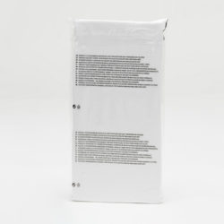 transparent medium poly bag for pre-packing with warning text