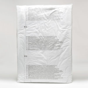 transparent big poly bag for pre-packing with warning text