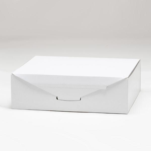 self folding white ecommerce mailing box