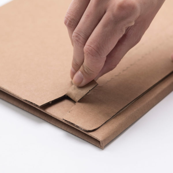 ecommerce book box brown perforation